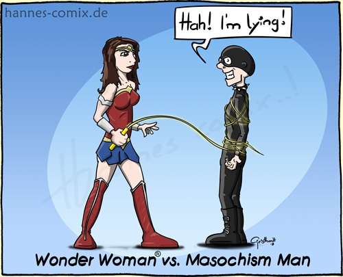 Wonder Woman vs. Masochismus Man